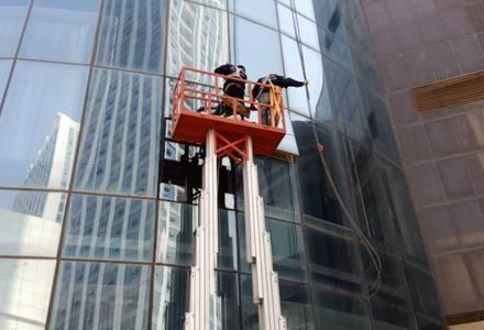 高空幕墙玻璃拆装施工